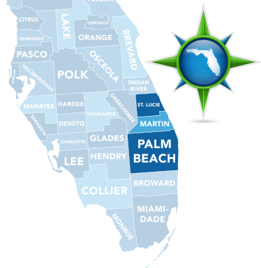 Martin County, Palm Beach County, St. Lucie County South Florida